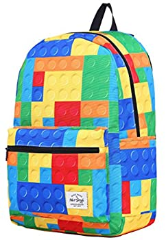 HotStyle TRENDYMAX Backpack for School Girls & Boys Durable and Cute Bookbag with 7 Roomy Pockets Blocks