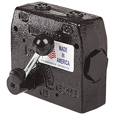 Prince Manufacturing RD-112-30 Pressure Compensated Adjustable Flow Control Valve, 0-30 GPM Range, 12 Port, Gloss Black from Prince Manufacturing Corporation