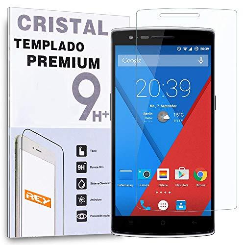 REY Protector de Pantalla para OnePlus One Plus One Cristal Vidrio Templado...