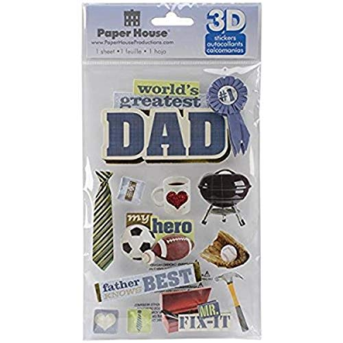 Paper House 3D Stickers 4.5'x8.5'-Dad