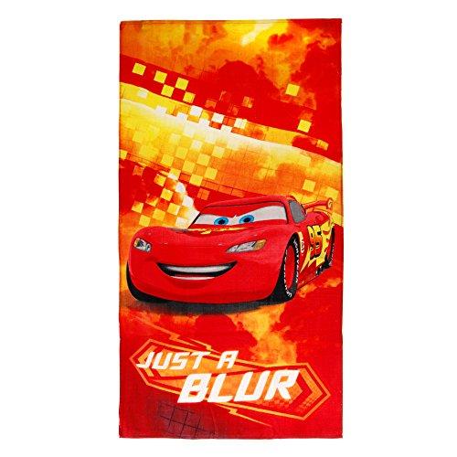 Asciugamano Caleffi Disney Cars Telo Mare Piscina 320 gr/mq Spugna 75x150 cm