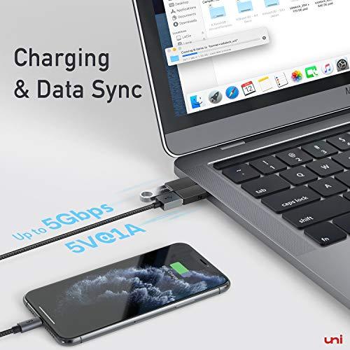 USB C auf USB Adapter, uni USB Typ C Adapter, OTG Adapter(Thunderbolt 3 kompatibel), kompatibel für MacBook, Surface Pro 7, Galaxy S20 und Note 10, Oneplus, Xiaomi, Huawei und mehr- 2 Stück