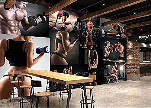 ZTBXQ Sport im Freien Fitnesszubehör Training Workout Fitness SetWallpaper 3D-Wandbilder Fitnessübung Modernes Wohnzimmer Schlafzimmer TV Hintergrund Wall Office Company