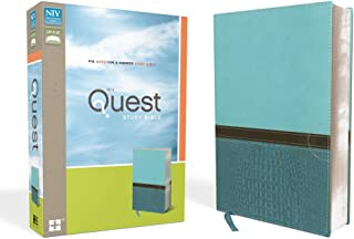 NIV, Quest Study Bible, Leathersoft, Teal: The Question and Answer Bible