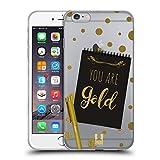Head Case Designs Oro Nota a sí Mismo Carcasa de Gel de Silicona Compatible con Apple iPhone 6 Plus/iPhone 6s Plus