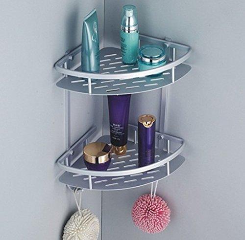 FPBS, mensola con ripiani ad angolo per cucina, bagno, doccia, in alluminio