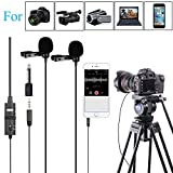 PC Microphone Dual-Head Lavalier for Smartphones Cameras, 157 Inches/4m BOYA Universal Mic with 1/8 Adapter for iPhone 11 X 8 7 Canon DSLR Camcorders Audio Recorder Podcast YouTube Video Livestream