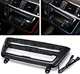 Car Center Console LED Lights Interior Ambient Lighting for BMW 3 Series 4 Series F30 F35 3GT M3 2012 2013 2014 2015 2016-2019 Carbon Fiber Replacement Trim Air Conditioning AC Panel Auto Accessories