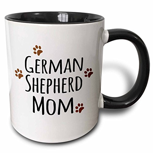 German Shepherd Dog Mom Coffee Mug with Muddy Paw Prints