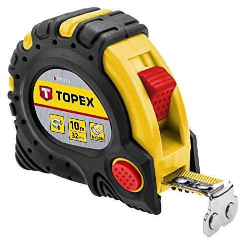 Topex Stahlrollbandmaß 10 m x 32 mm, Magnet, 27C340