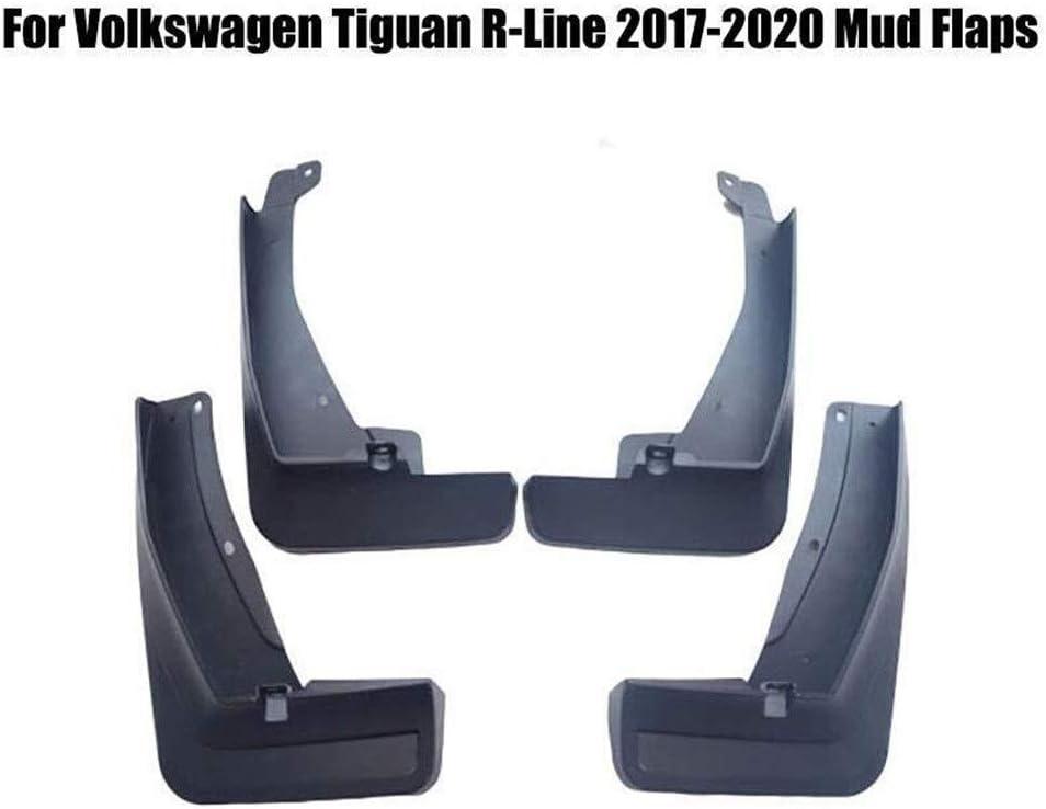 2017 2018 2019 2020 Size : Tiguan L-phev 2017-2020 Schmutzf/änger Gummi Kotfl/ügel Schwarz 4pcs vorne und hinten Set Splash Schmutzf/änger schwarz for VW Tiguan R-Line L-phev