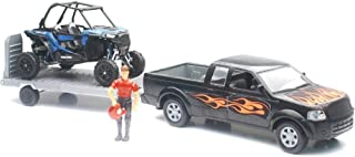 Replica 1:18 Truck/Trailer/Utv Truck Black/Rzr Blue