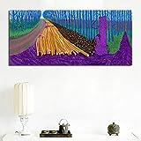 David Hockney arte de pared abstracto paisaje rural lienzo pintura bosque paisaje árboles y flores impresión cartel sala de estar dormitorio oficina decoración del hogar
