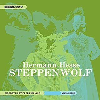 Steppenwolf                   By:                                                                                                                                 Hermann Hesse                               Narrated by:                                                                                                                                 Peter Weller                      Length: 7 hrs and 42 mins     1,017 ratings     Overall 3.9