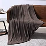 EXQ Home Fleece Blanket Chocolate Brown Throw Blanket for Couch or Bed - Microfiber Fuzzy Flannel Blanket for Adults or Kids