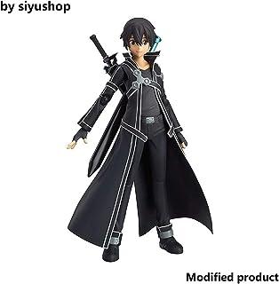 Siyushop Sword Art Online: Figurine Kirito Figma - Sculpture Précise Et Détaillée - Equipée Darmes - Hauteur 14 Cm