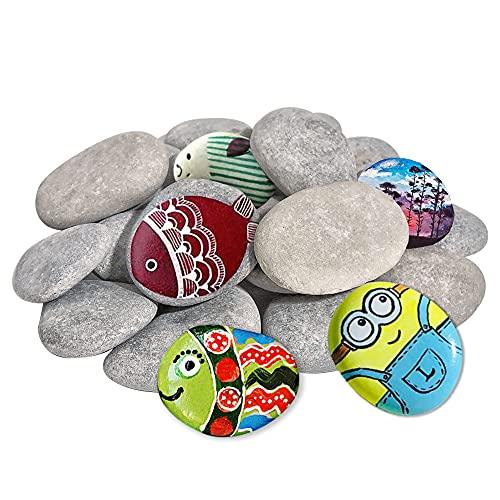 DALTACK 20PCS Large Rocks for Painting, Smooth & Flat Kindness Craft Rocks River...