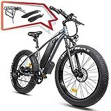 "Electric Snow Bike 26"" 4.0"" Fat Tire 750W EBike Shimano..."