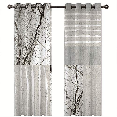 MMHJS 3D Blackout Curtains Effectively Protect Personal Privacy Suitable For Curtains In Living Room, Balcony, Garden Four Seasons Universal 2 Pieces