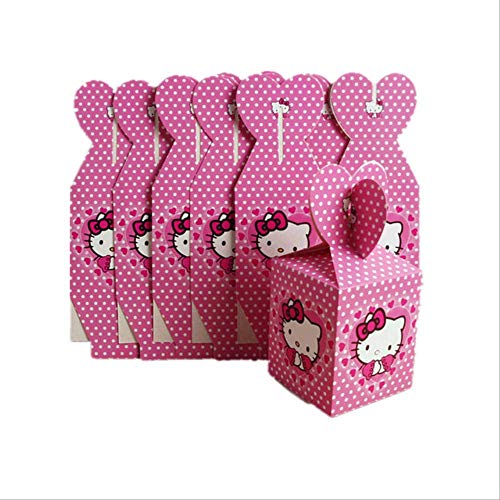 Emballage Cadeau Boite 12 Pcs/Lot Princesse/Super-héros/Spiderman/Mario/Licorne/Avengers Candy Box Enfants Boîte Cadeau D'anniversaire Décorations De Fête Fournitures Hello Kitty