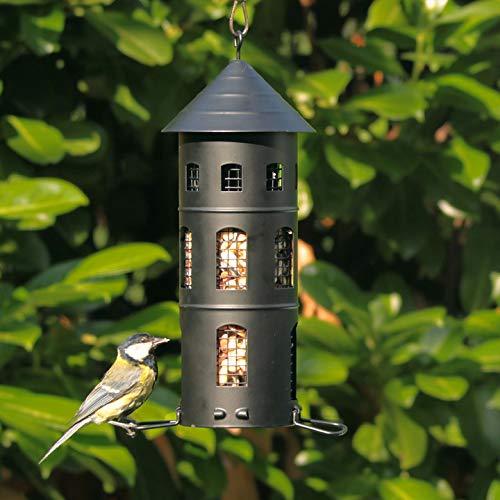 Wildlife Garden Vogelhaus Kombi Haus Schweden Stil Futterhaus Futterturm schwarz Multiholk Kombifeeder