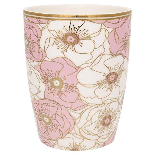 GreenGate Gate Noir - Latte Macchiato Becher/Kaffeebecher - Flori - Pale pink
