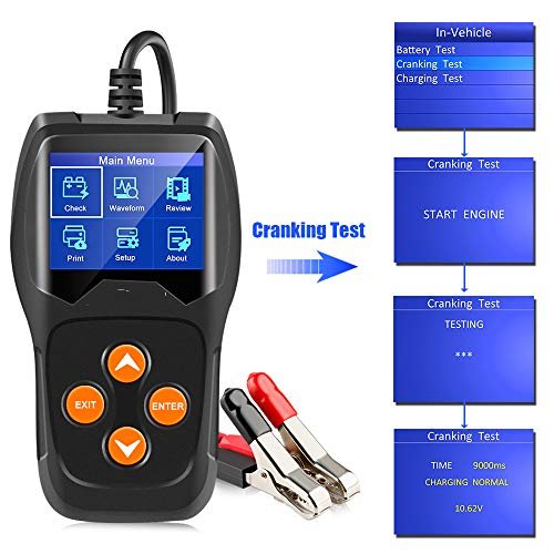 Lowest Price! QWERTOUR 12V Car Battery Tester 100 to 2000CCA 12 Volt Battery Tools for The car Quick...