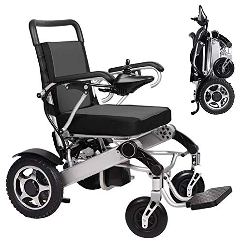 Best Review Of JAHQ Electric Wheelchair Motorized Foldable Power Wheel Chair, Transit Wheelchair Lig...