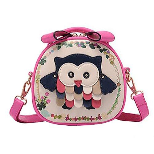 Cute Hibou ronde sac à bandoulière filles élégantes simples épaule sac Bag Bag Fashion