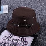 Sombrero De Playa Blanco Negro Casual Hombres Mujeres Panamá Verano Sombrero para El Sol Caza Pesca Al Aire Libre Gorra Unisex Sombreros De Playa Marrón Oscuro