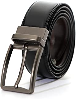 حزام جلدي أسود كاجوال أحزمة جينز للرجال حزام عمل كبير وطويل