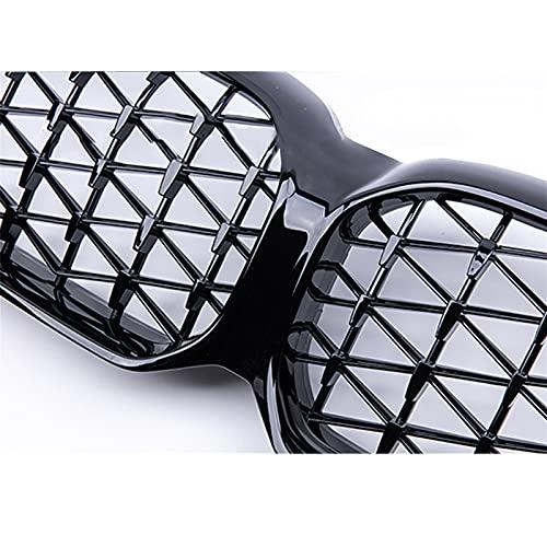 DZSHSBH Parrilla Delantera Kidny para B&MW 5 Series G30 G38 F90 M5 2021, Rejillas De Carreras De 2 Listones Facelited, Accesorios para Automóviles (Color : Diamond Black)