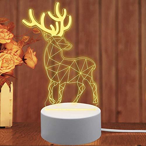 LED nachtlampje 3D, WAWJ bedlampje bureau lampen verjaardagscadeau party wooncultuur Kerstmis