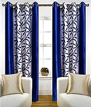 Inira Trendz 2 Piece Eyelet Polyster Window Curtain - Blue