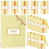 LA BELLEFÉE - 14 Sobres Perfumadas de Papel Aromatizado para Colocar Entre Prendas, en Cajones, o Donde Quieras Tener un Aroma Delicado, Regalos para Fiestas Bautismos -Vanilla
