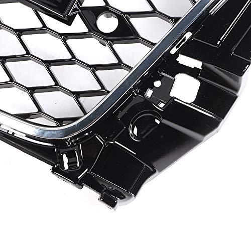 51bBYttMbVL - Radar Falsches Auge, Auto RS3 Style Black Frame Fronthaube Middle Mesh Grille Zubehör Passend für A3 8V 2013-2016