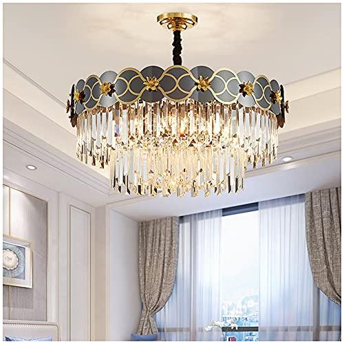 YUFENGDING Lámpara de Cristal para el Comedor del vestíbulo Luz Colgante de Cristal Moderno para la Isla de la Cocina, Sala de Estar, Dormitorio, Pasillo A