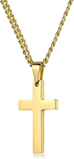 gold cross necklace guys