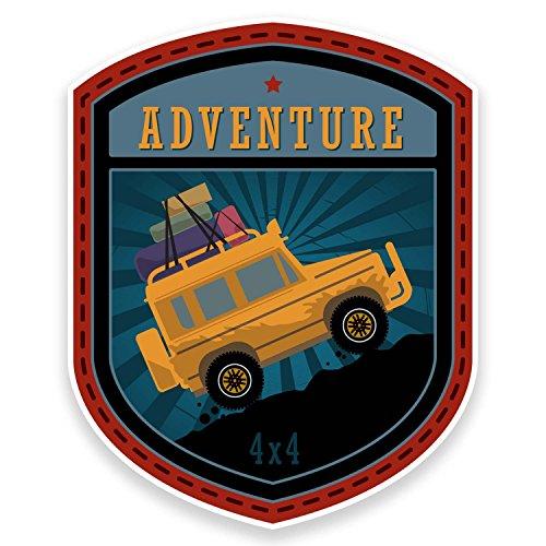 2 pegatinas Adventure Off-Roading para coche, bicicleta, iPad, portátil, Land Rover Jeep 4x4, 9181 (8 cm de ancho x 10 cm de altura)