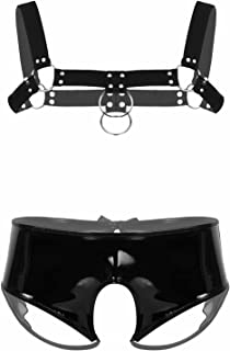 iiniim Man Harness Belt Lingerie Set Strappy Hollow Out Elastic Tops Crotchless Underwear