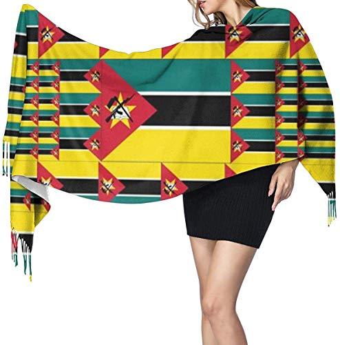 Mozambique vlag zachte kasjmier sjaal wrap sjaals lange sjaals voor vrouwen office partij reizen 68x196 cm