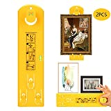 Picture Frame Hanger Tool,Picture Hanging Tools with Level Suitable for Marking Position,Picture Frame Ruler...