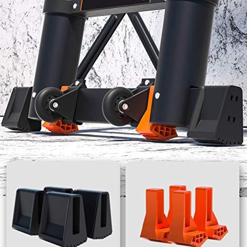 Hchao 1.7m Telescoping Ladder,Multi-Purpose Foldingtelescopic Aluminium Ladder,with Stabiliser Bar, 80mm Wide Pedal, Ladder Maximum Loading 150kg Strong.