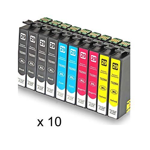 Bramacartuchos - Pack de 10 Cartuchos compatibles con t29XL T2991 - T2994 (1)