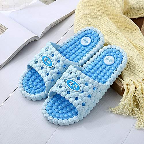 TDYSDYN Chanclas Ligeras con Chanclas para Hombres,Sandalias de Ducha de baño, Zapatillas de Masaje en Pareja-Azul Claro_40/41
