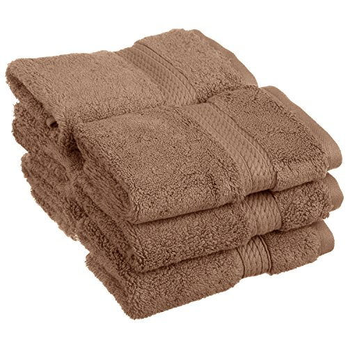 SUPERIOR Solid Egyptian Cotton 6-Piece Face Towel Set