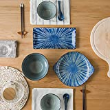 Zoom IMG-2 piatti di cena blu giapponesi