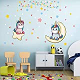 Zoom IMG-2 kibi 2pcs adesivi muro unicorno