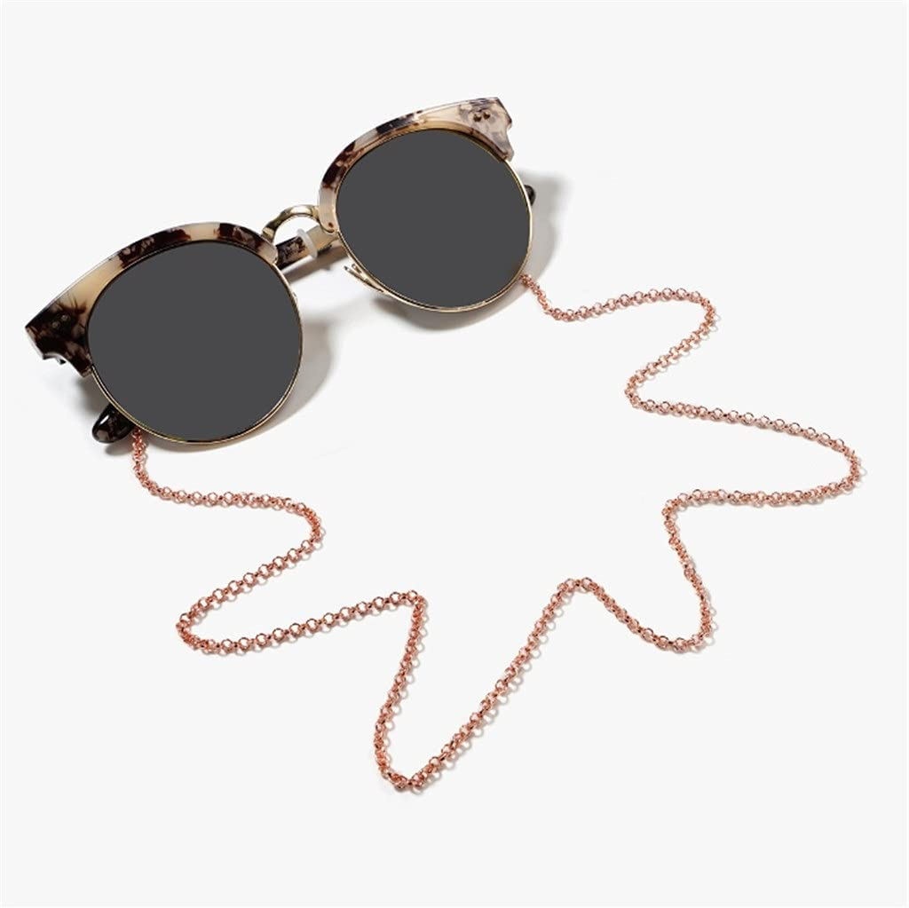 XJJZS Vintage Color Chain Cords Reading Glasses Chain Fashion Women Sunglasses Accessories Ethnic Style Lanyard Hold Straps (Color : A, Size : Length-70CM)
