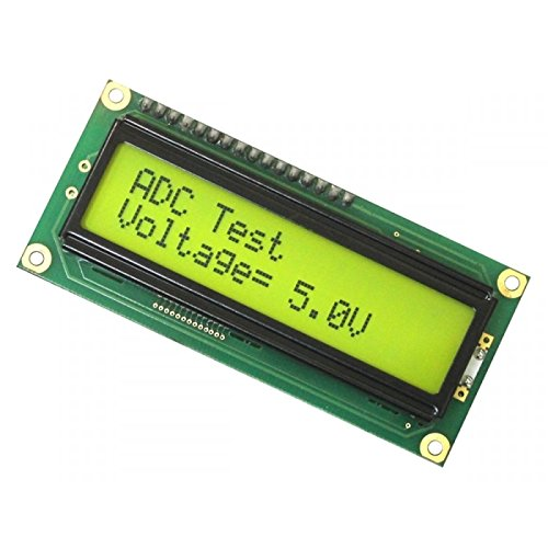 Silicon Technolabs Lcd 16X2 Yellow Backlight Alphanumeric Display for 8051,Avr,Arduino,Raspberry Pi,Pic,Arm All Microcontroller (Green)